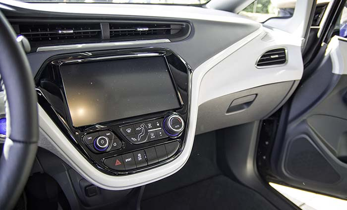 Interior del Chevrolet Bolt