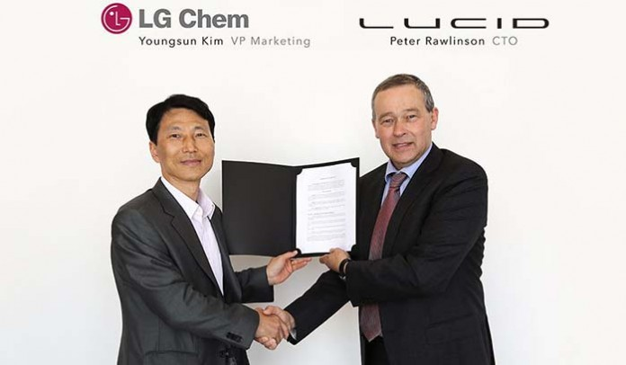 Lucid Motors y LG Chem firman un acuerdo de colaboración