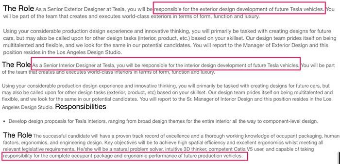 Tesla busca diseñadores para sus futuros modelos