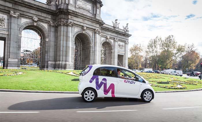 emov en Madrid, el car sharing eléctrico del Grupo PSA