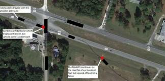 Esquema del accidente mortal de Tesla con Autopilot conectadoEsquema del accidente mortal de Tesla con Autopilot conectado