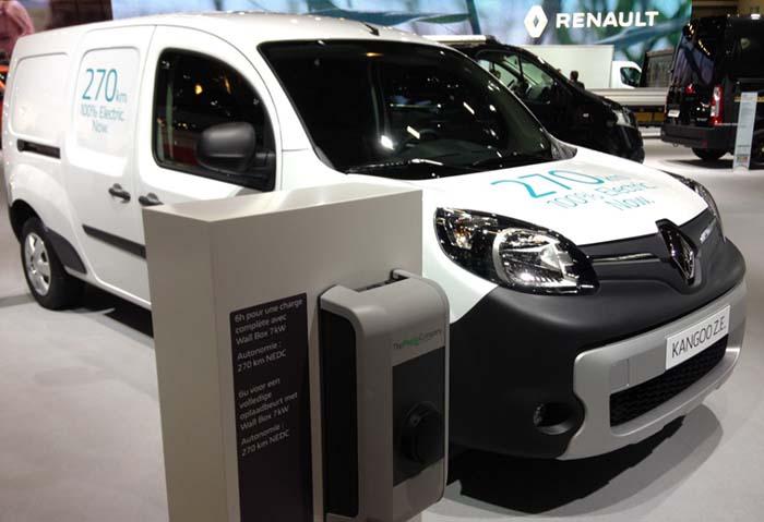 Nueva Renault Kangoo ZE. Autonomía 270 km. Carga en 6 horas a 7 kW