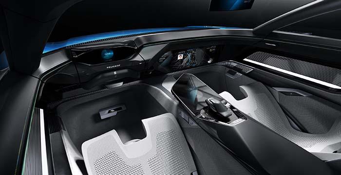 Interior del Peugeot Instinct Concept