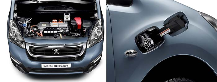 Peugeot Partner Tepee Electric. Motor y recarga