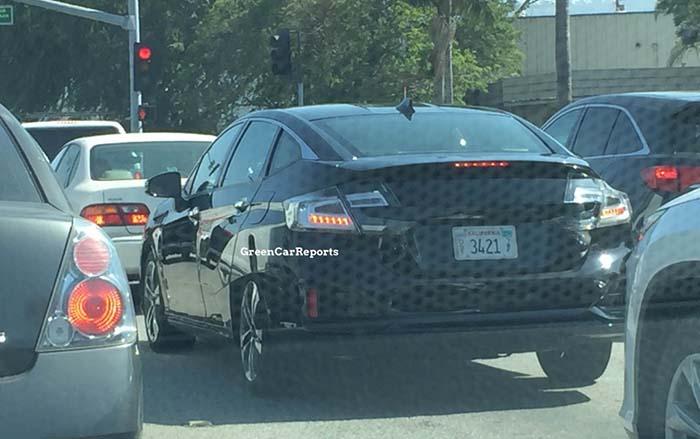 Prototipo del Honda Clarity de hidrógeno de 2016 - Foto Green Car Reports