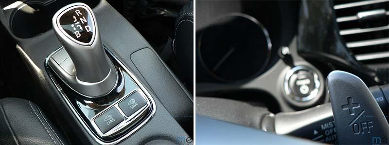 Selector de modo y levas para la retención en el Mitsubishi Outlander PHEV