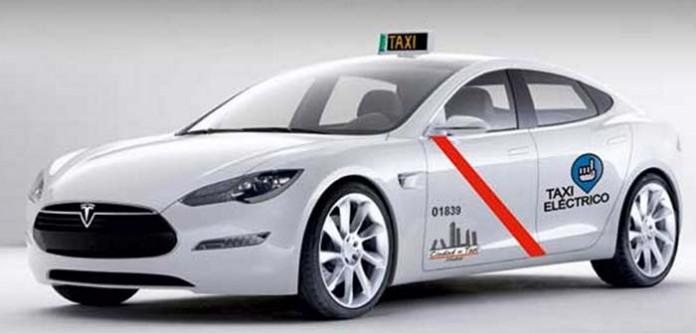 Tesla Model S taxi - Imagen de La Gaceta del Taxi