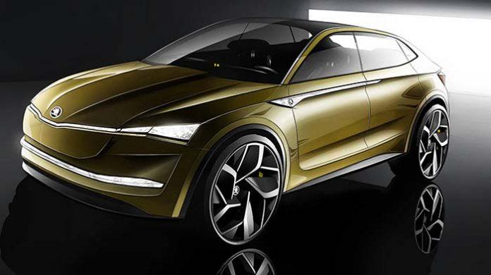 Škoda VISION E prototipo- vista delantera lateral