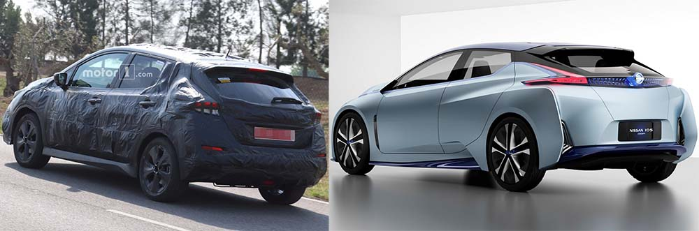 Comparación nuevo Nissan Leaf con el IDS Concept - trasera