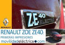 RENAULT ZOE ZE40 primeras impresiones