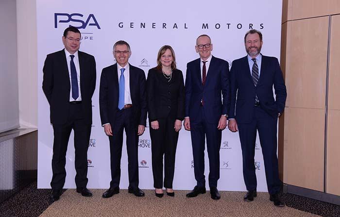 Firma del acuerdo entre el Grupo PSA General Motors y Opel