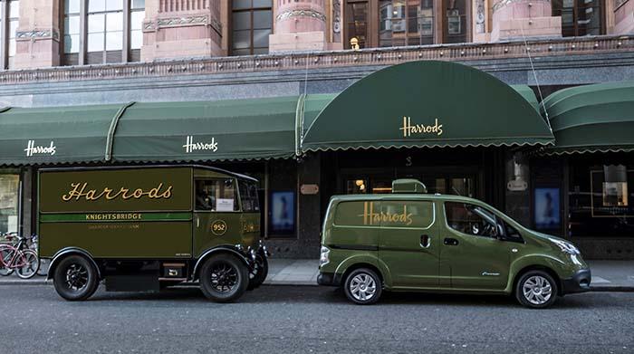 Hace 100 años Harrods ya utilizaba furgonetas eléctricas para el reparto