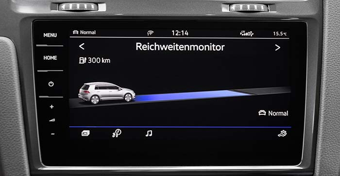 La autonomía del nuevo e-Golf aumenta hasta los 300 kilómetros