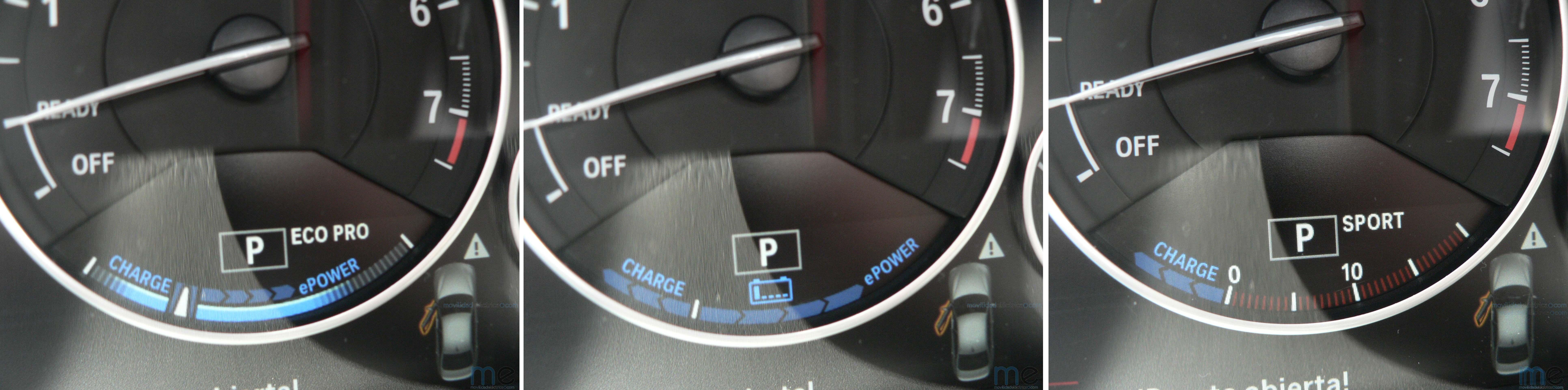 Modos de funcionamiento del BMW Serie 3 iPerformance