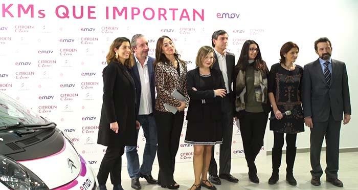 Representantes de Citroen, emov y la Fundación Querer