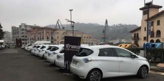 Siete Renault Zoe en el Puerto de Pasaia