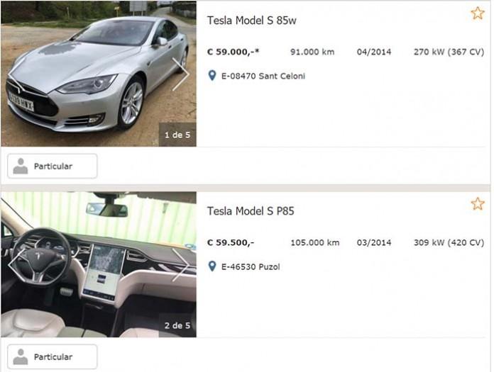 Un Tesla de segunda mano un 35% más barato