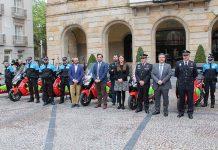 Acto de entrega de la flota de 10 BMW C Evolution a la Policía Local de Gijón