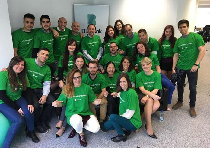 El equipo de Bigbank en el lanzamiento de PrestamoVerde