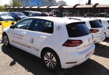 Flota del nuevo Volkswagen e-Golf 2017 en el roadshow de Madrid