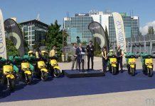 CORREOS presenta en Madrid 200 nuevas motos eléctricas Silence