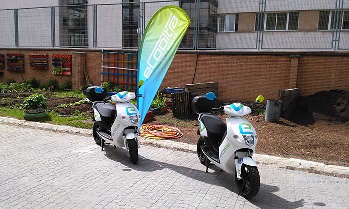 El scooter eléctrico de eCooltra fabricacdo por Govecs