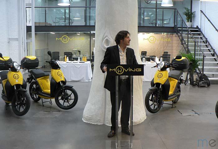 Horacio Pérez Perdigó, CEO de Muving, en la presentacion de Madrid