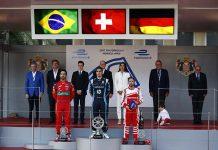 Pódium del ePrix de Mónaco - Buemi, Di Grassi y Heidfeld