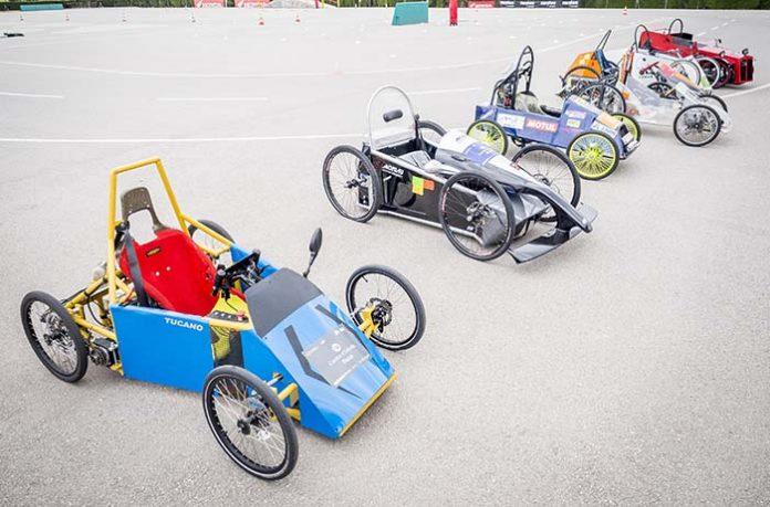 Los siete vehículos participantes en la IV edición del ElectroCat