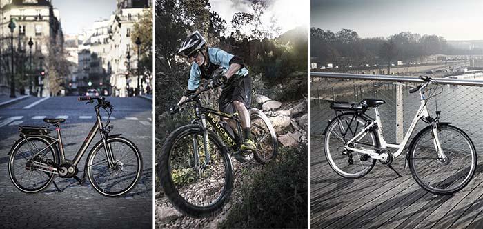 Algunos de los modelos de las nuevas e-bikes de Peugeot