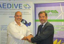 Firma del acuerdo de colaboración entre AEDIVE y APPA
