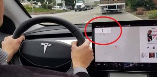 La pantalla central del Tesla Model 3