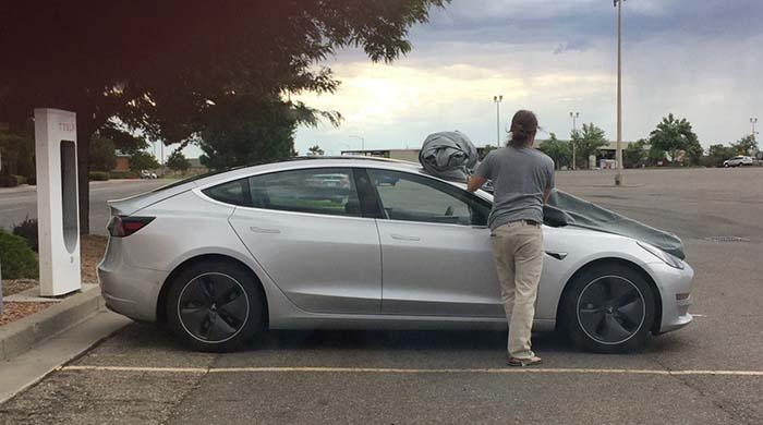 Tesla Model 3 de pruebas en Colorado
