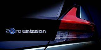 Imagen parcial de la parte trasera del nuevo Nissan Leaf