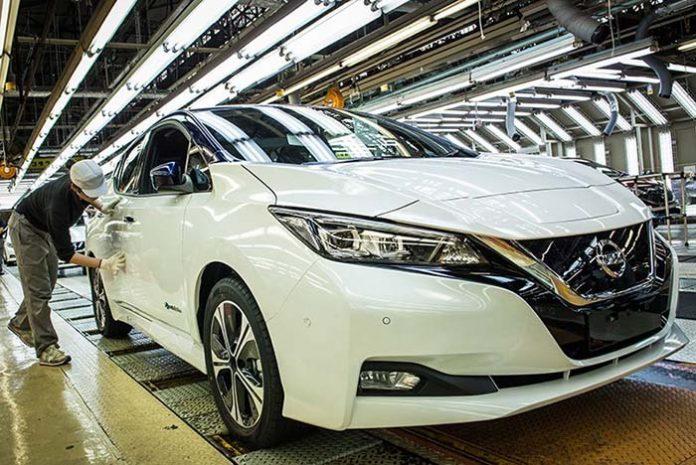 Fabricación del nuevo Leaf en la fábrica de Oppama en Japón