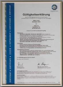 Certificado ISO 14040/14044  del BMW i3