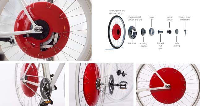 Componentes de Copenhagen Wheel