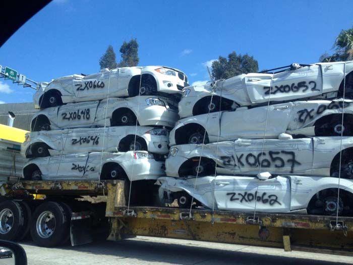 BMW Active E destruidos