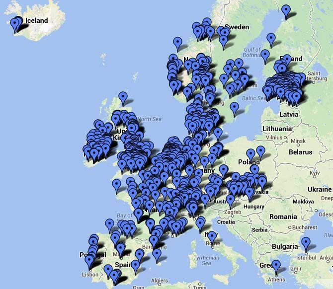 mapa europa CHADEMO julio 2014