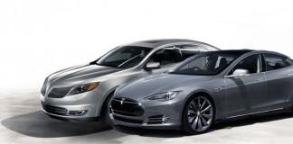 Ford Lincoln eléctrico y Tesla Model S