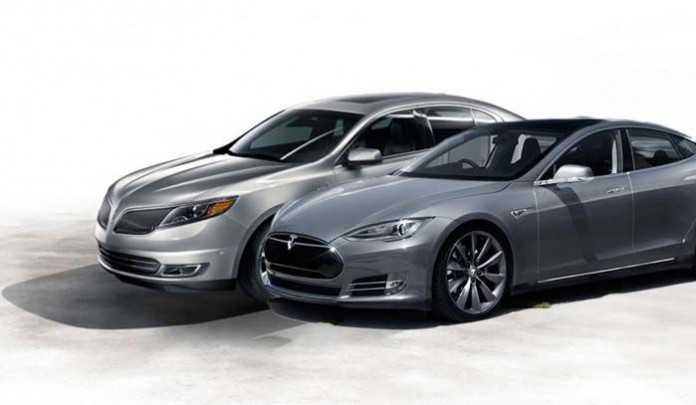 Ford Lincoln eléctrico y Tesla Model S