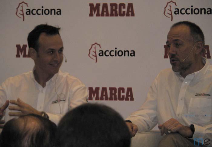 Agustín Payá y Albert Bosch durante la presentación del Dakar 2015
