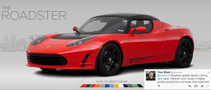 tesla roadster - 700
