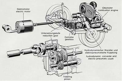 vw transporter híbrido de 1977 - 350