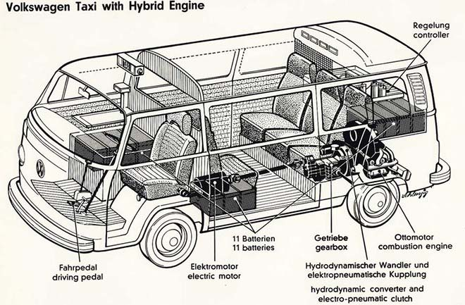 vw transporter híbrido de 1977 - 700