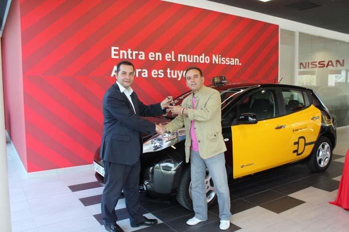Nissan Leaf taxi en Barcelona