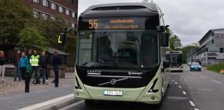 Ruta del autobús eléctrico 55 en Gotemburgo