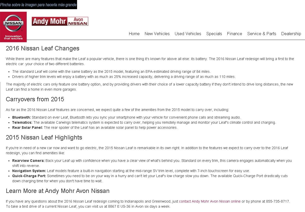 nissan leaf 2016 capacidades bateria - 700-2 (Copiar)
