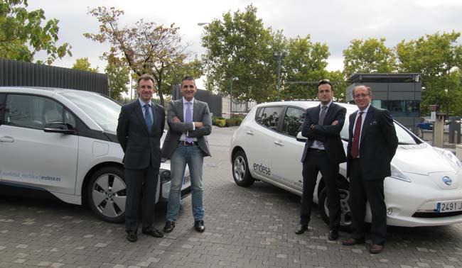 Trabajadores de Endesa con vehículo eléctrico