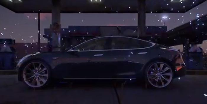 Nuevo Tesla Model 3 parachute